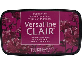 Versafine Clair Ink Pad Purple Delight by Tsukineko - Full sized  - The BEST ink for Detailed Rubber Stamps