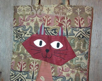 Smiling Faced Cat -  Happy Market tote bag