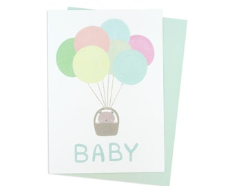 Bear Baby Greeting Card (Recycled Paper. Blank Inside)