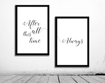 2 Poster Inspirational, after all this time, printable decor, poster digital, typography quote, minimalist, scandinavian, anniversary gift