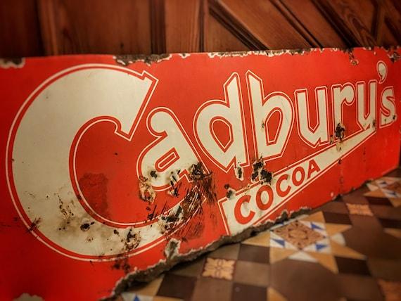 Cadburys Cocoa vintage enamel advertising sign