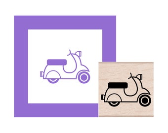 Scooter Rubber Stamp