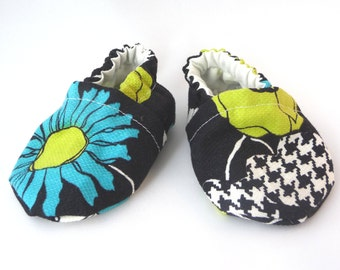 Flower Baby shoes, Vintage Fabric Shoes, Handmade Baby Shoes, Baby Shoes, Soft Sole Shoes, Baby Accessories, Baby Gift Idea,Baby Shower Gift