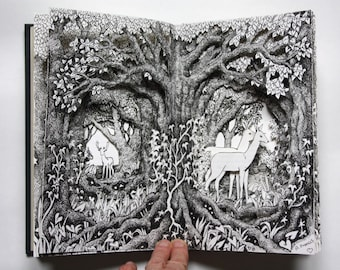 Deer in the Forest Altered Book