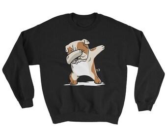 English Bulldog Dog Funny Dabbing Sweatshirt