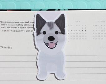 Husky Dog (Pomsky) Magnetic Bookmark (Jumbo)