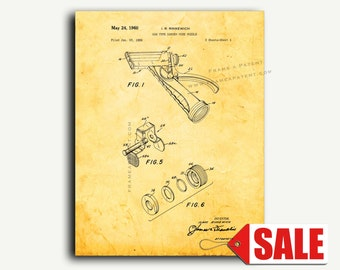 Patent Print - Garden Hose Nozzle Patent Wall Art Poster