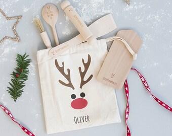 Christmas Gift - Personalised Christmas Kids Baking - Personalised Baking Set - Personalized Baking Kit - Cooking Set - Kids Christmas Gift