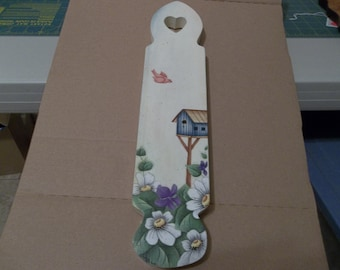 Tole painted wooden WALL HANGING.