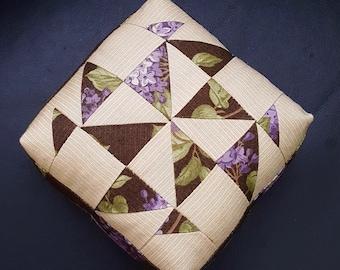 Dear Jane Pincushion, Block A-1, Patchwork, Sewing, Quilting, Needlework, Gift, Lilac Ridge, Moda