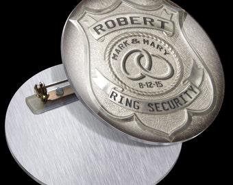 Ringer Bearer Gift PN1009 Ring Security Badge Pin for Ring Bearer at Wedding - Ring Bearer Gift