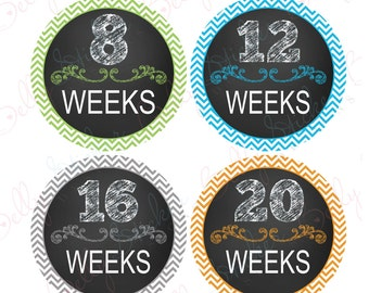 Pregnancy belly stickers Chalk Neutral PLUS FREE Labor Day Sticker