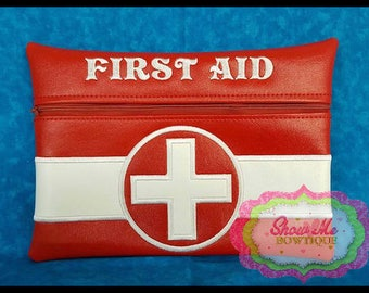 LINED 8x12 First Aid Zip Bag