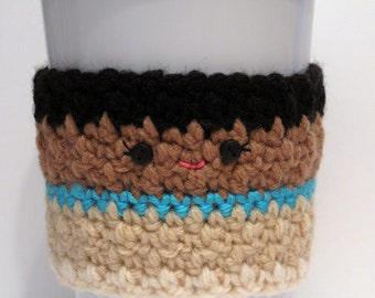 Crochet Pocahontas Coffee Cup Cozy