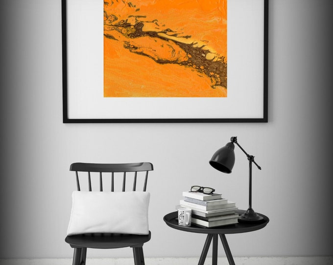Orange Painting Acrylic Painting GICLEE Art Print Abstract Painting Contemporary Wall Art Abstract Painting Sizes Small / Large Wall Art