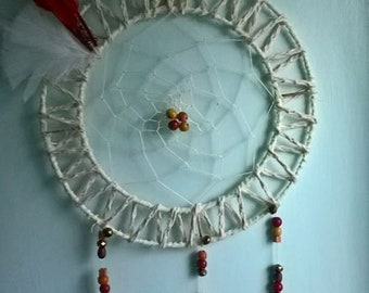 Hand crafted Natural Colours Dream Catcher