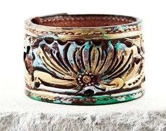 Art Noveau Jewelry Boho Leather Bracelets Size Small