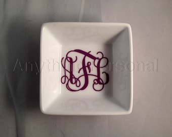 Personalized Gift, Monogram Gift, Ring Dish, Jewelry Dish, Monogram Dish, Jewelry, Trinket, Bachelorette, Personalized Ring Dish, Monogram