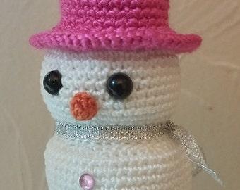 Snowman Crochet Ornament Pattern - Amigurumi Crochet Christmas Pattern - Beginner Amigurumi Pattern