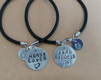 2 piece set of stamped bracelets