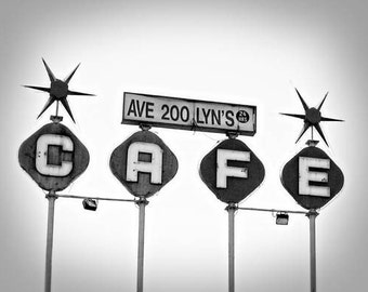Lyn's - 11 x 14 Fine Art Photographic Print - Black and White