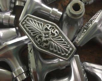 Ornate waldorf estoria door knob - salvaged vintage silver doorknob - Antique door knob