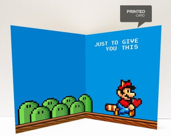 Super Mario Love Printed Card
