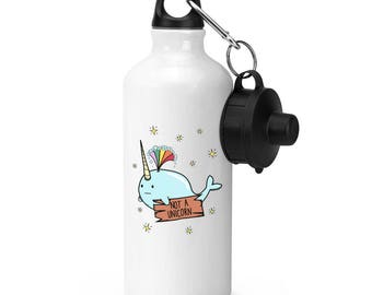 Narwhal Not A Unicorn Sports Bottle