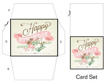 Gift Card Set A106-Digital ClipArt-Birthday-Party-Gift Tag-Notebook-Birthday-Scrapbook-Holidayr-background-gift card.