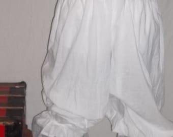 Plus size white pantaloons