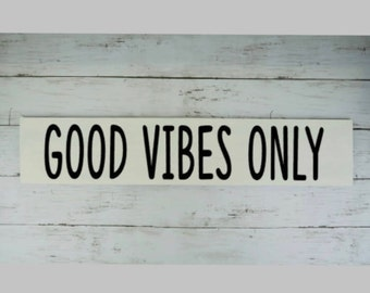 Good Vibes Only Sign | Home Decor | Gallery Wall | Hand painted