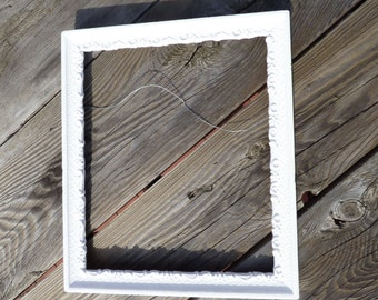 Old Wood Frame White