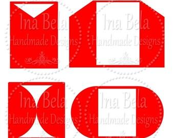 Set Wedding Invitations,SVG Files for Cricut,SVG Files,Instant Download,Wedding Invitation,Cut Template Pattern,Silhouette Cut File,Bundle