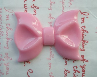 Dollar SALE Huge  bow cabochon 1pc ME PINK