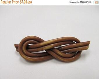 On Sale Vintage Brown Spaghetti Plastic Pin Item K # 1402