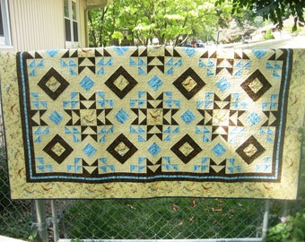 SALE, Buy 2, Get 1 Free -- SUMMER BREEZE, pdf quilt pattern,  Throw, Queen & King sizes