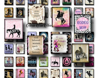 Rodeo Cowgirls, cowgirl images for scrabble tile pendants,   INSTANT  Digital Download at Checkout,cowgirl pendants,cowgirl collage sheets