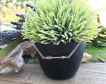 Handcrafted jewelry, arrow choker necklace