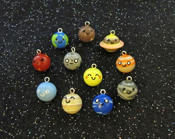 Choose Your Own Planet Universe Sun Moon Solar System Galaxy Charm