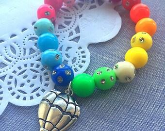 Hot Air Balloon party, adventure party, rainbow bracelet, rainbow jewelry, hot air balloon bracelet, SET of TEN.