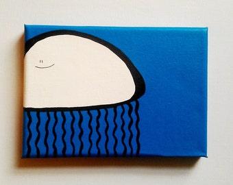 Acrylic Painting On Canvas - Original - Jeff the Jellyfish