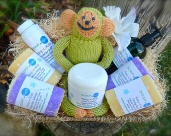 Deluxe Baby Gift Basket With Organic Ingredients Vegan