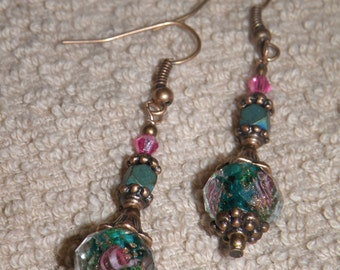 Romantic Roses Dangle Earrings