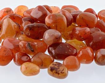 Carnelian Tumbled Gemstone - Stone of Motivation, Love & Courage