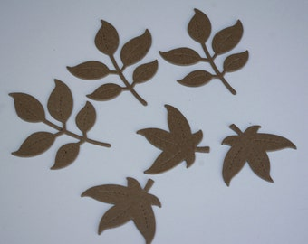Chipboard Die Cut Leaves Set No. 1