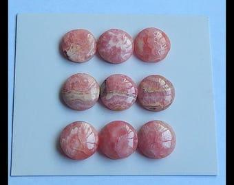 SALE,9 PCS Argentina Rhodochrosite Gemstone Cabochons,10.7g (Cb195)