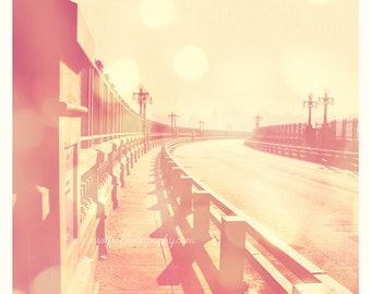 photography, Pasadena photograph, California art, Arroyo Seco, photo of Colorado street bridge, romantic Beaux Arts LA architecture print