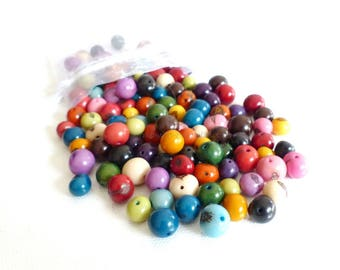 Multi-colored Acai - Assortment of colors - 100 to 1000 beads to choose