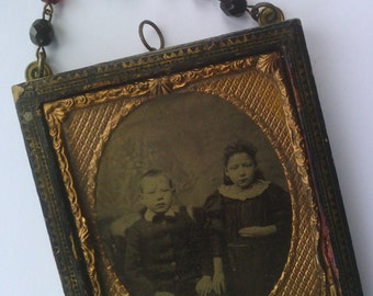 Antique Tin Type Ambrotype Daguerreotype Wall Hanging