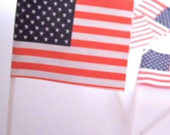 24 U.S. Flag Cupcake Picks